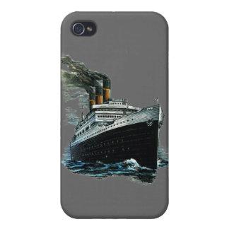 Black steamer ship iPhone 4 case