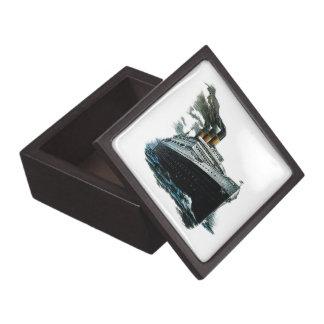 Black steamer ship Premium Gift Box (2) sizes