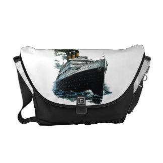 Black steamer ship Rickshaw Messenger Bag