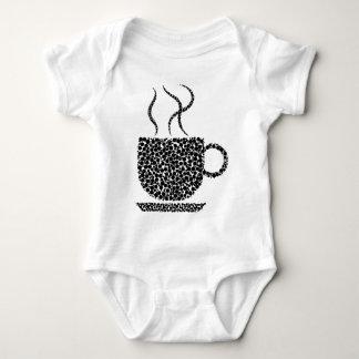 Black Steaming Cup Baby Bodysuit