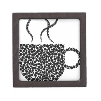 Black Steaming Cup Jewelry Box