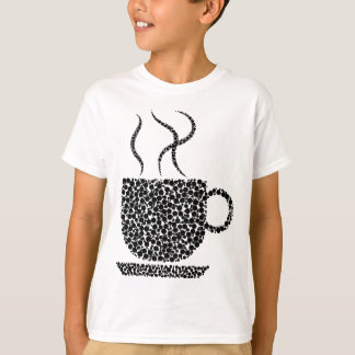 Black Steaming Cup T-Shirt