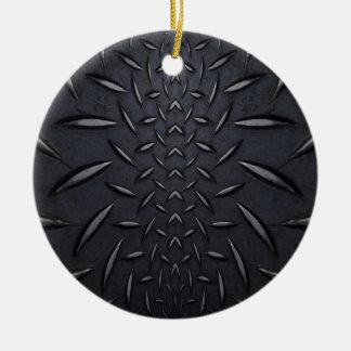 Black Steel Ceramic Ornament