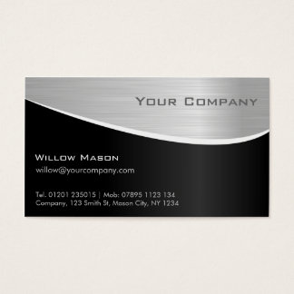 Black Steel Effect, Professional Business Card