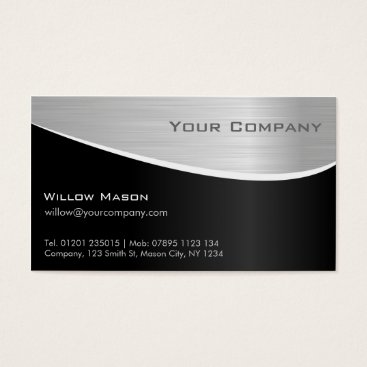 Professional Business Black Steel Effect, Professional Business Card