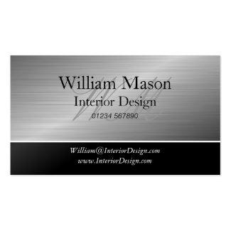 Black & Steel Monogram Business Card