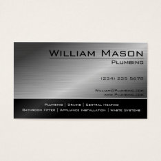 Black & Steel Skilled Tradesman Business Card at Zazzle