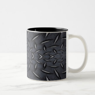 Black Steel Two-Tone Coffee Mug