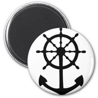 black steering wheel anchor icon refrigerator magnets