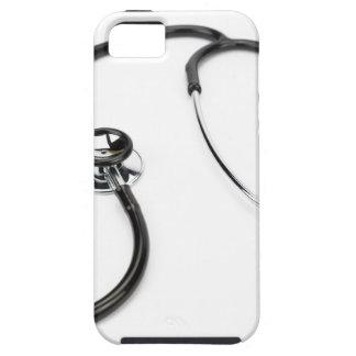 Black stethoscope isolated on white background iPhone SE/5/5s case