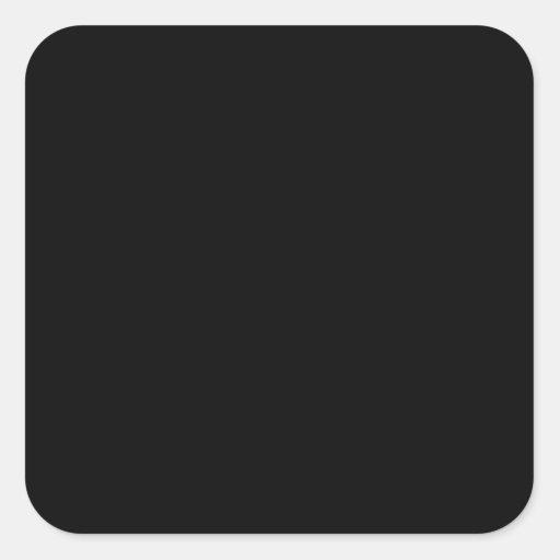 Black Square Stickers