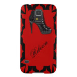 Black Stiletto on Red Cases For Galaxy S5