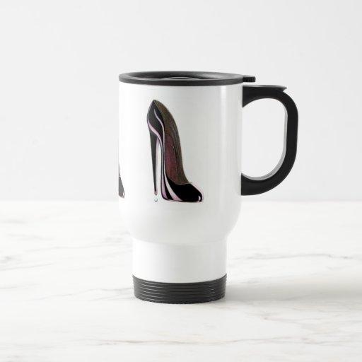 Black Stiletto Shoe 15 Oz Stainless Steel Travel Mug