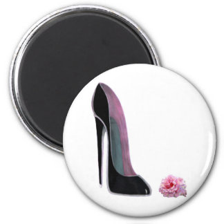 Black Stiletto Shoe and Rose Magnet