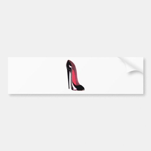Black Stiletto Shoe Bumper Sticker