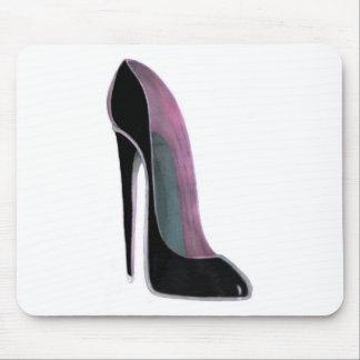 Black Stiletto Shoe Mouse Pad