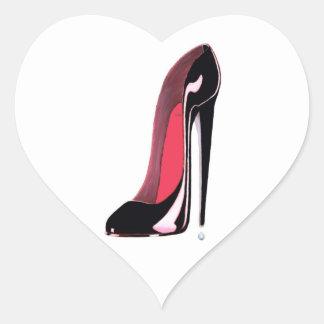 Black stiletto Shoe Sticker