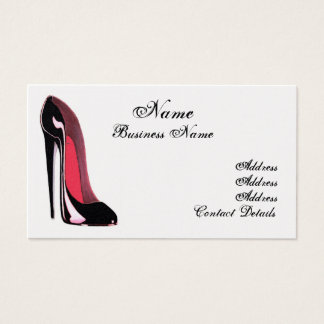 Black Stiletto Shoe Stylish Business Card