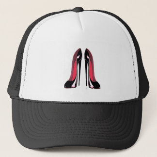 Black Stiletto Shoes Trucker Hat