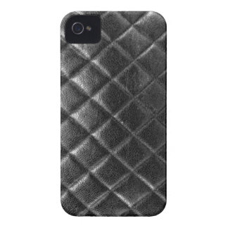 Black stitched leather bag quilted cc caviar iPhone 4 case