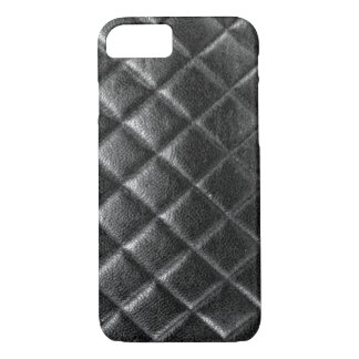 Black stitched leather bag quilted cc caviar iPhone 7 case