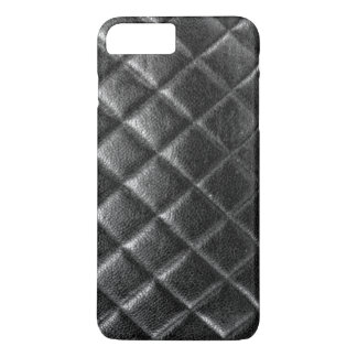 Black stitched leather bag quilted cc caviar iPhone 7 plus case