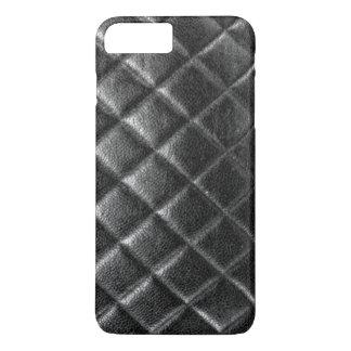 Black stitched leather bag quilted cc caviar iPhone 8 plus/7 plus case
