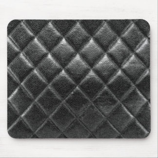 Black stitched leather bag quilted cc caviar mouse pad