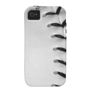 Black Stitches Baseball/Softball Case For The iPhone 4