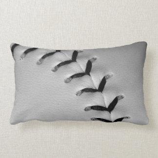 Black Stitches Baseball/Softball Lumbar Pillow
