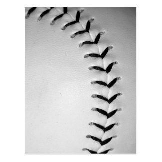 Black Stitches Baseball/Softball Postcard