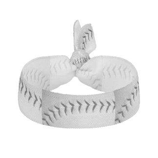 Black Stitches Baseball / Softball Ribbon Hair Tie