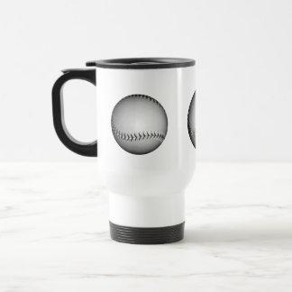 Black Stitches Softball / Baseball 15 Oz Stainless Steel Travel Mug