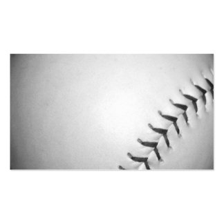 Black Stitches Softball / Baseball Double-Sided Standard Business Cards (Pack Of 100)