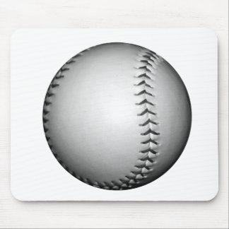 Black Stitches Softball / Baseball Mouse Pad