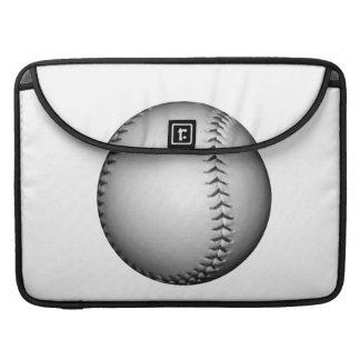 Black Stitching Baseball / Softball Sleeve For MacBook Pro