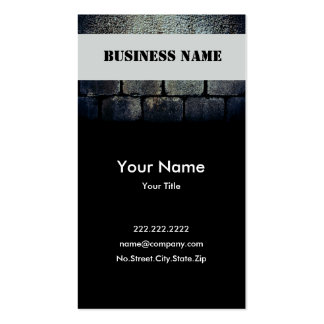 Black Stone Double-Sided Standard Business Cards (Pack Of 100)