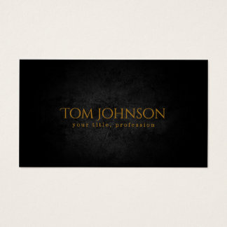 Black Stone & Golden Text Font For Your Business Business Card