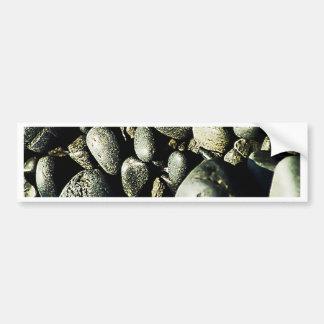 Black Stone Rustic Rigid Tough Wall Art Fashion Na Bumper Sticker