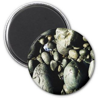 Black Stone Rustic Rigid Tough Wall Art Fashion Na Magnet