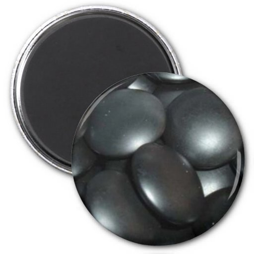 black stones 2 inch round magnet
