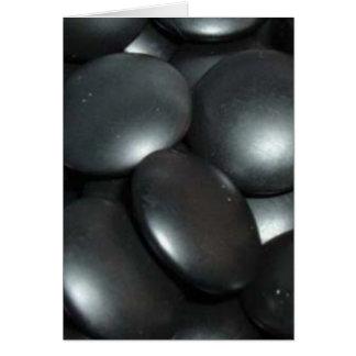 black stones greeting card