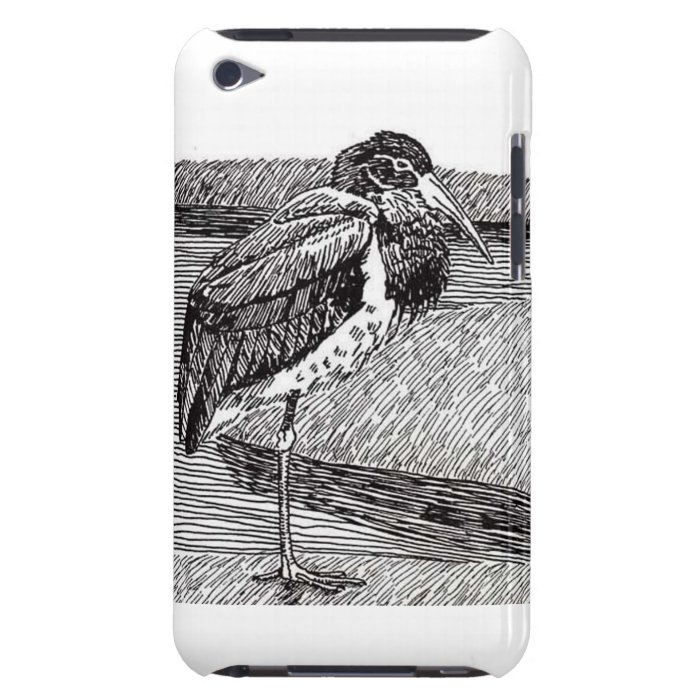 Black Stork iPod Case-Mate Case