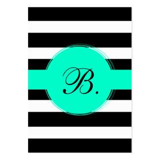 Black Stripe Calling Card Business Cards