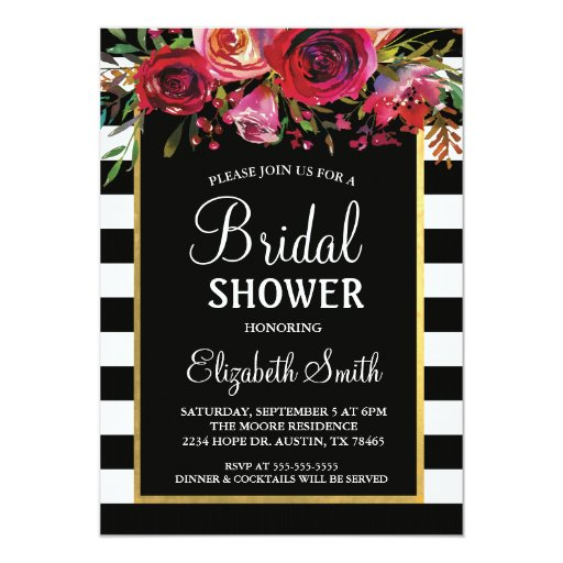 Red And White Bridal Shower Invitations ⋆ Partyinvitecards