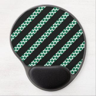 Black Stripe Green Dot Gel Mousepad