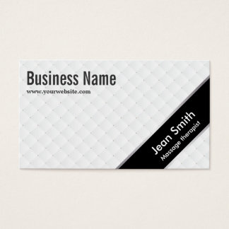 Black Stripe Massage Therapist Business Card