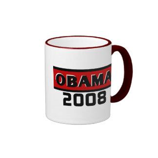 Black Stripe Obama Red 08 Mug