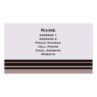 black stripe on purple business Double-Sided standard business cards (Pack of 100)
