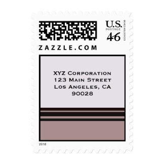black stripe on purple business stamps